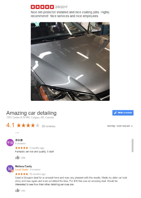 Amazing Car Detailing Shop Reviews