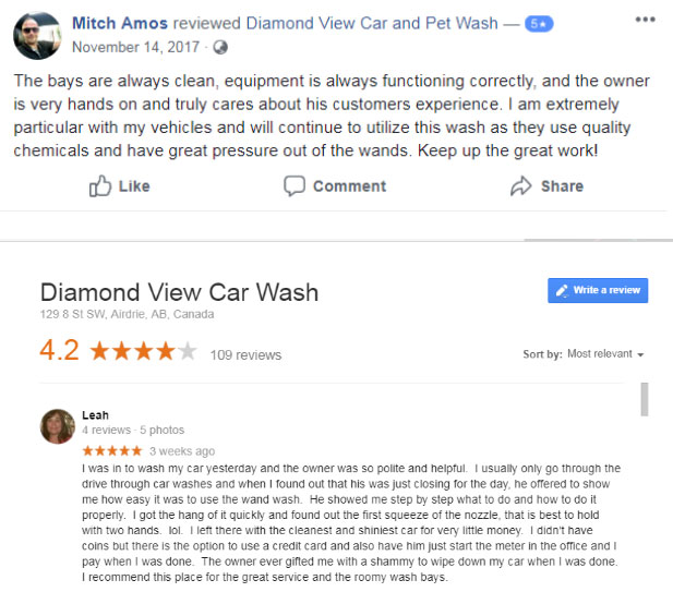Diamond View Car Wash Reviews
