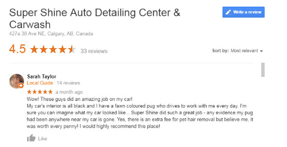 Super Shine Auto Car Wash and Detailing Center Google Reviews