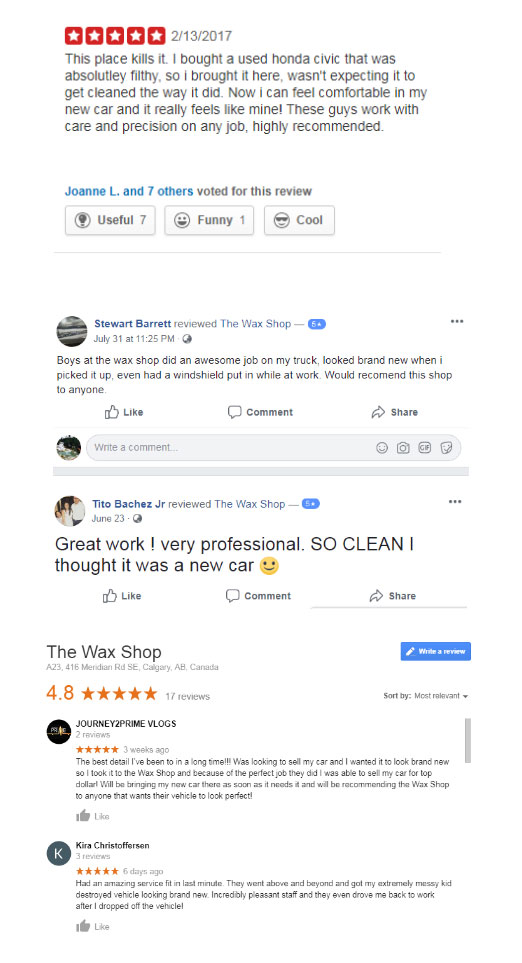 The Wax Shop Reviews