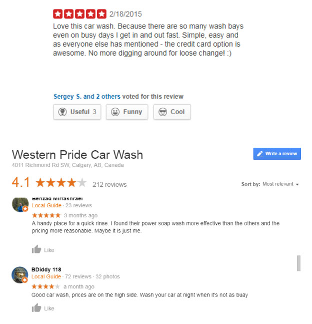 Western Pride Car Wash Reviews