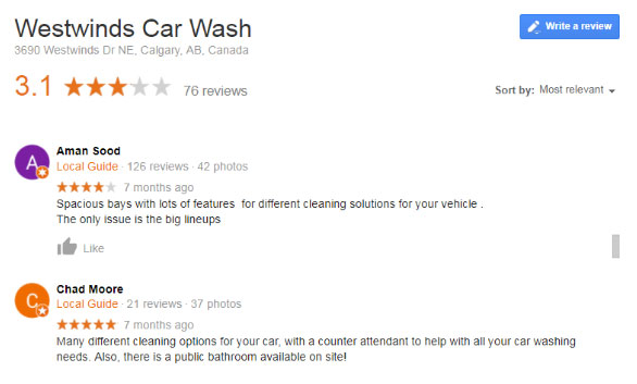 Westwinds Car Wash Review