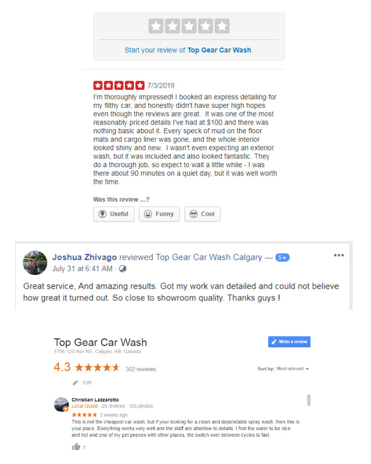 Top Gear Car Wash Calgary Reviews