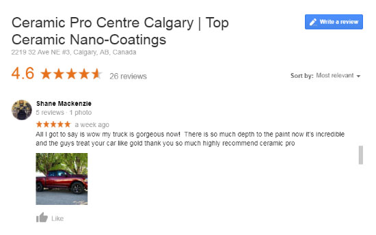 Ceramic Pro Centre Calgary Review