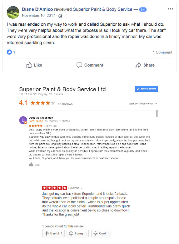 Superior Paint and Body Service Ltd. Reviews